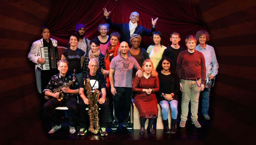 Photo of Ron Bunzl with Circ/us cast of 2014.