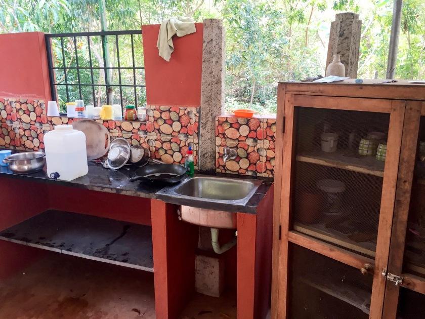 My outdoor kitchen in Auroville, Tamil Nadu, India.