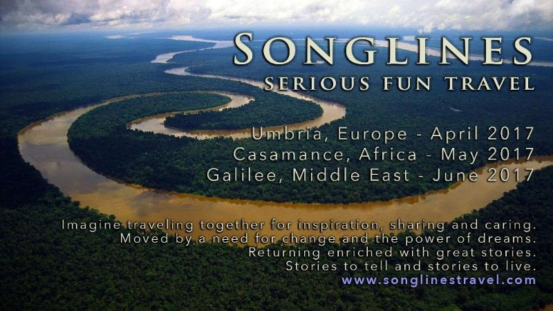 Promotional poster for Bunzl's Songlines project.