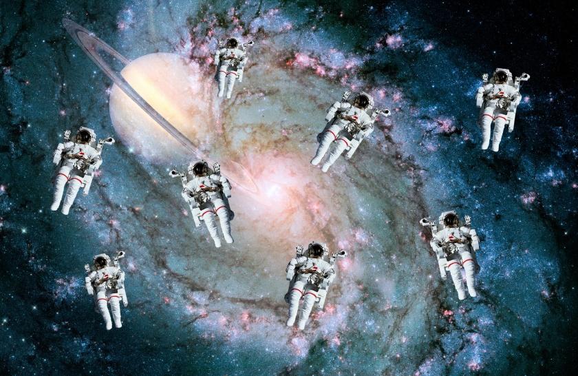Astronauts Planet Space Stars