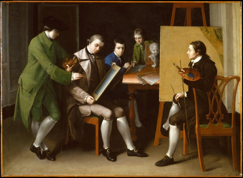 """""""The American School"""", oil on canvas by Matthew Pratt, 1765. From The Met public domain collection."""